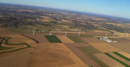 Aerial photo of Montfort wind farm, Sept. 2012