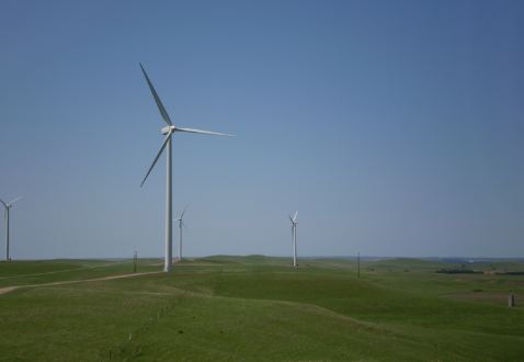 Smoky Hills wind farm, 2008